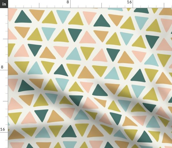 Fabric by the Yard triangles - Henry