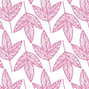 Leaves - Pink - Small