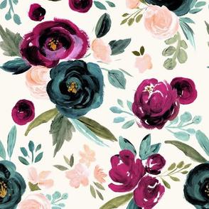 Valentina Rose-pink  teal