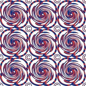 Red White Blue Swirls