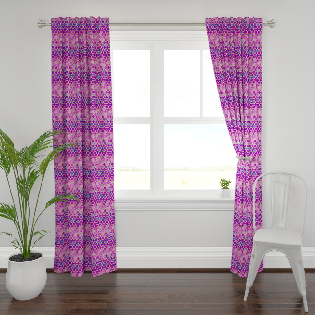 Plymouth Curtain Panel featuring Moroccan Violet Hues Lantern Design by gypsea_art_designs