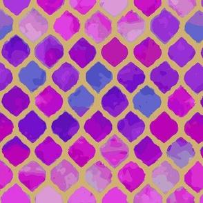 Moroccan Violet Hues Lantern Design