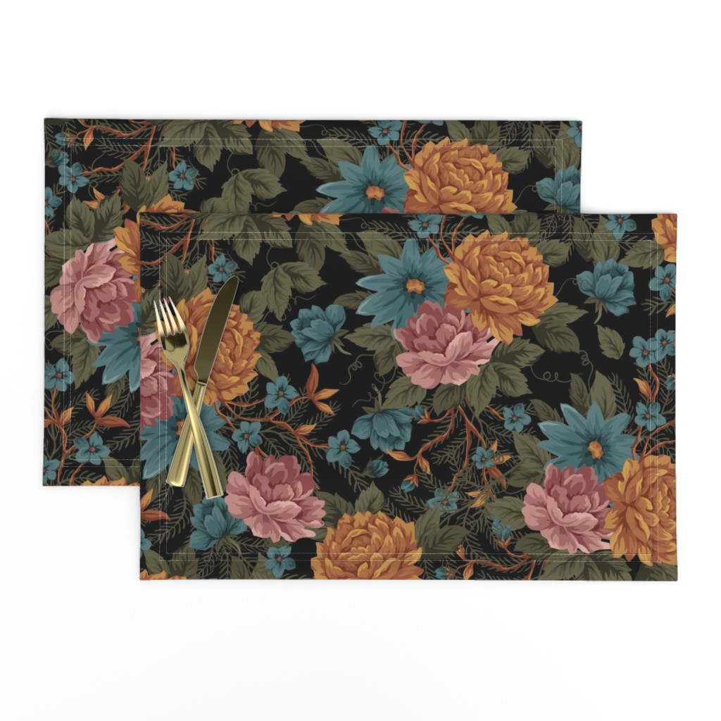 Lamona Cloth Placemats featuring Vintage Mood ©Julee Wood by jewelraider