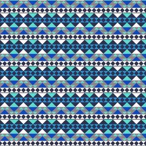 Mayan Symbols Pattern Blue