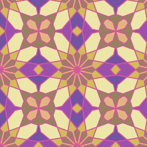 Arabesque Geometrc Floral Pattern