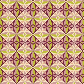 Modern Mosaic Tile Pattern Fabric