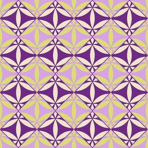 Arabesque Tile Pattern Fabric Purple