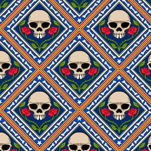 Skulls and Roses Tile 1