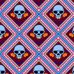 Skulls and Roses Tile 2