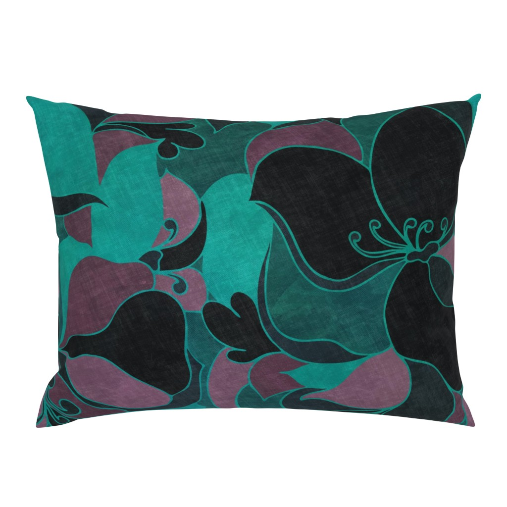 Campine Pillow Sham featuring Moody Florals by delinda_graphic_studio