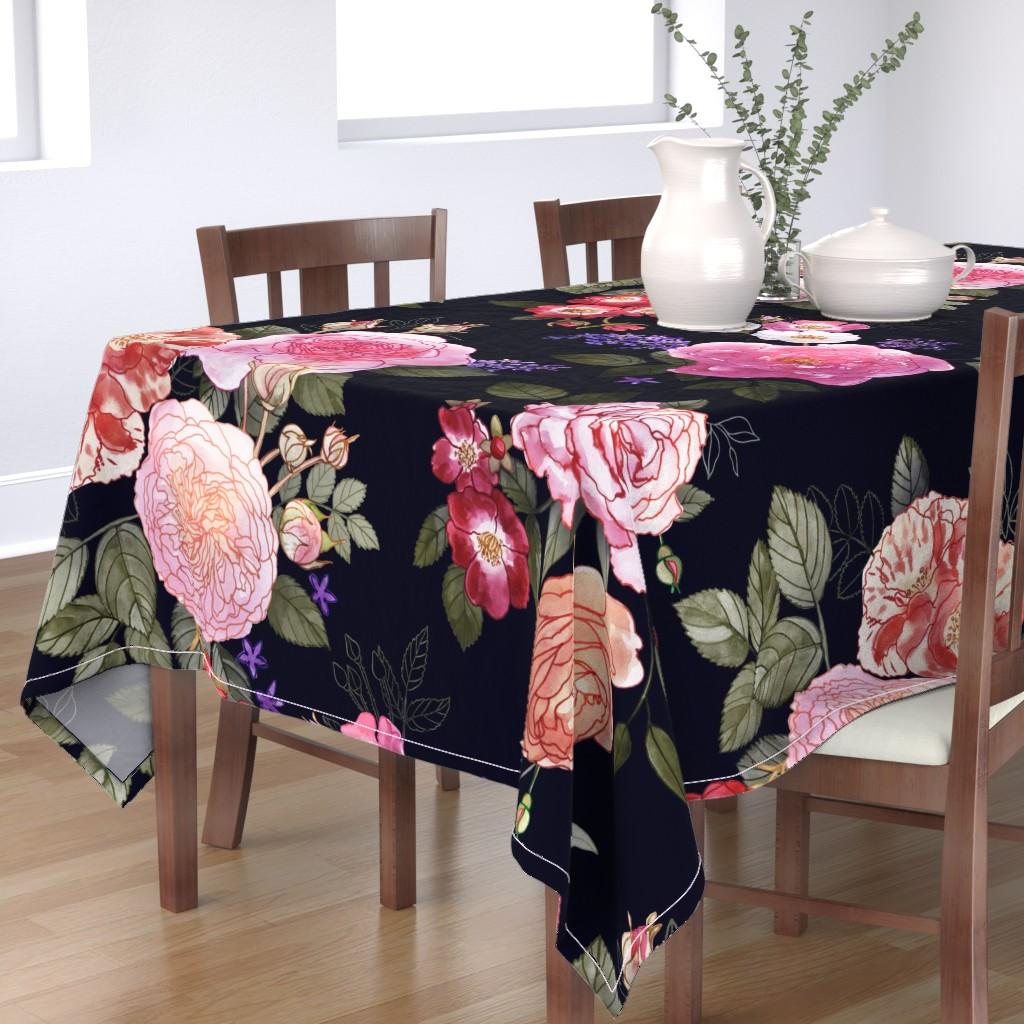 Bantam Rectangular Tablecloth featuring Dark Romance by stitchyrichie