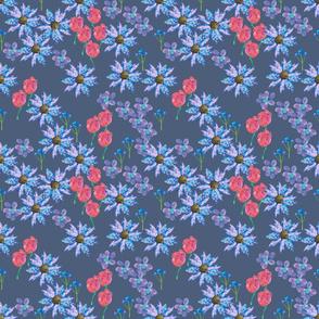 Cutout dark floral