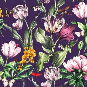 Moody Blooms - Purple