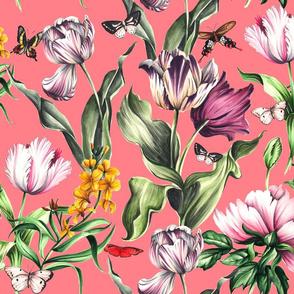 Moody Blooms - Salmon Pink