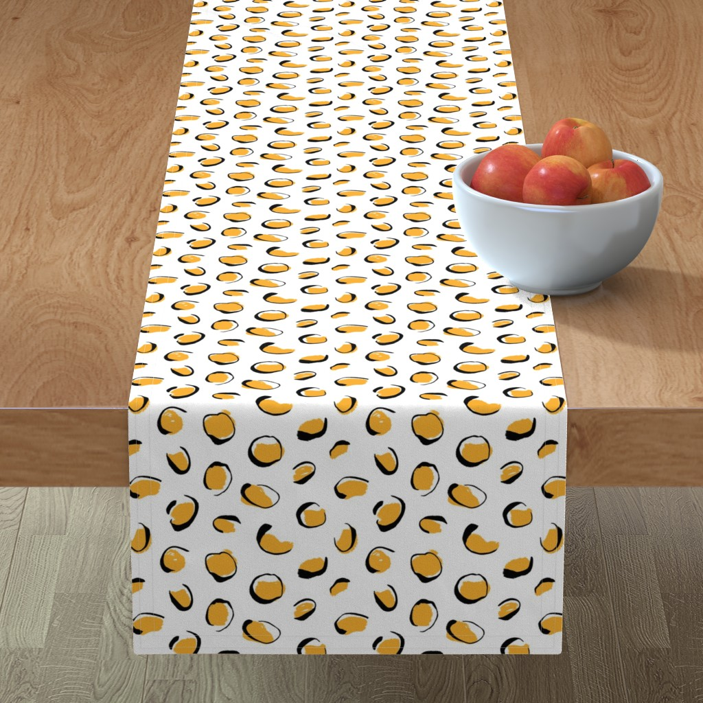 Minorca Table Runner featuring Sunny leopard spots  by revista