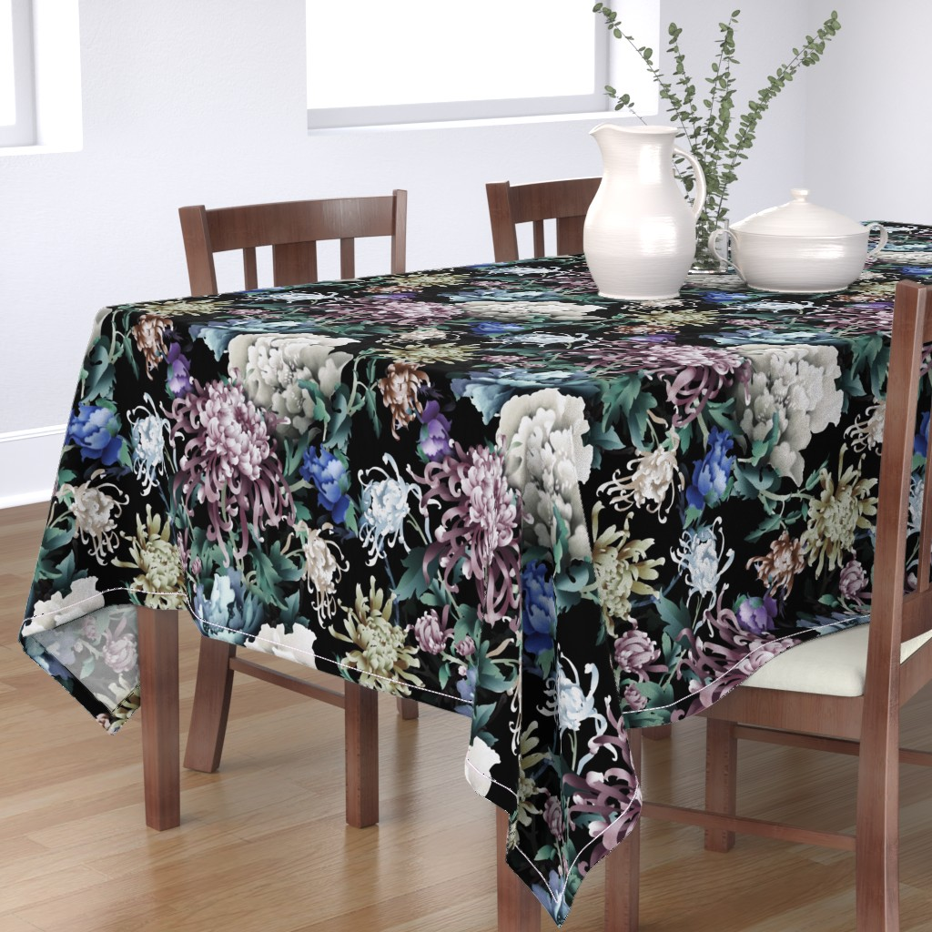 Bantam Rectangular Tablecloth featuring Floral Night by chicca_besso