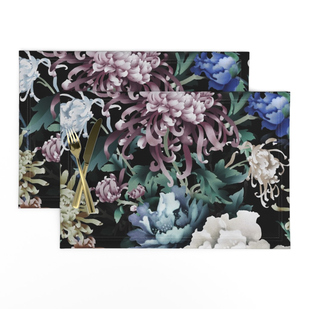 Lamona Cloth Placemats featuring Floral Night by chicca_besso