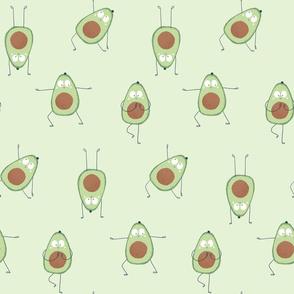 Avocado yoga in green