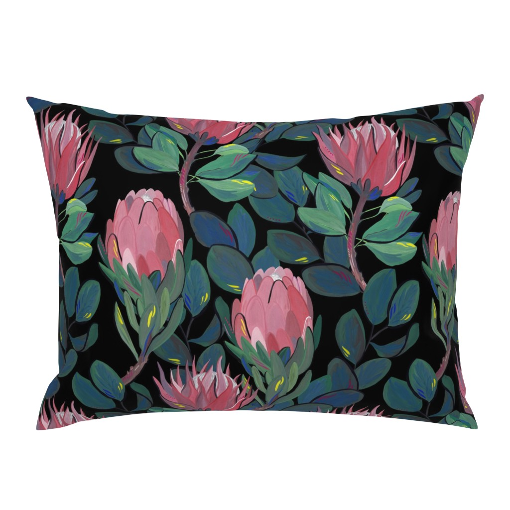 Campine Pillow Sham featuring Moody Flowers by asma_original