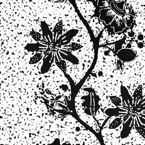 Flowering Vine in black and white