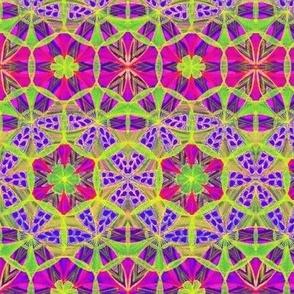 Flowers Mandala Border Pattern Fabric