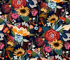Popping Moody Floral - Large