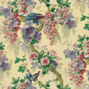 Vintage Birds and Roses