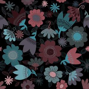 Midnight Flowers - by Kara Peters