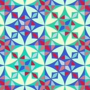 Arabesque Geometric Pattern Fabric 2