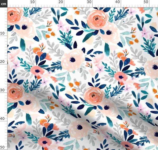 Geometric Dots Abstract  throw blanket  with Spoonflower fabric Indigo Rain by Crystal/_walen Throw Blanket