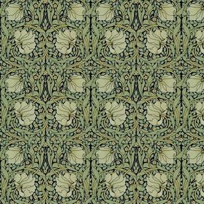 William Morris ~ Pimpernel  Original on Black ~ Medium