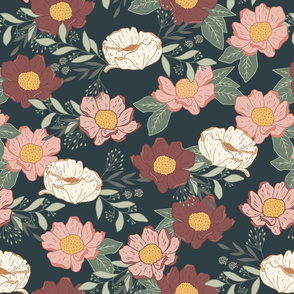 Moody Floral Garden