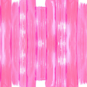 Pink Seamless Brushstrokes on White Background
