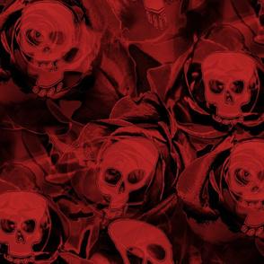 Haunted Red Skulls