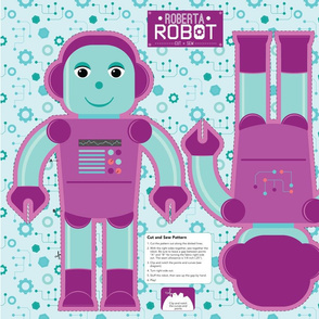 Roberta Robot Cut and Sew Plushie Pillow Project