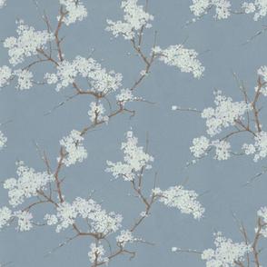 Vintage Cherry Blossoms - Blue