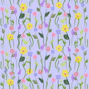 Wildflower Carpet - Sky (large scale)