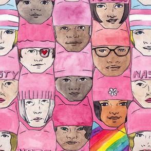 Women's March Faces