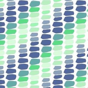 Shades of Green Blue Blocks