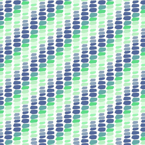 Shades of Green Blue Blocks