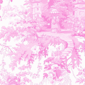 Chinoiserie Palace  ~ Pink and White