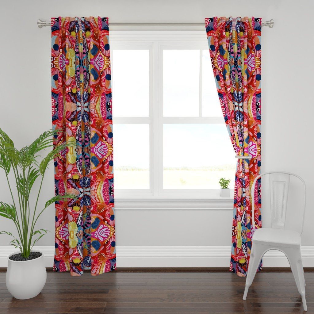 Plymouth Curtain Panel featuring argh, my eyes! ..Stella's tears by bound_textiles