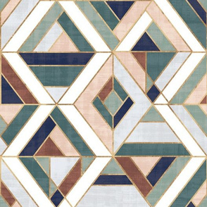 Nola mosaic-earth tones