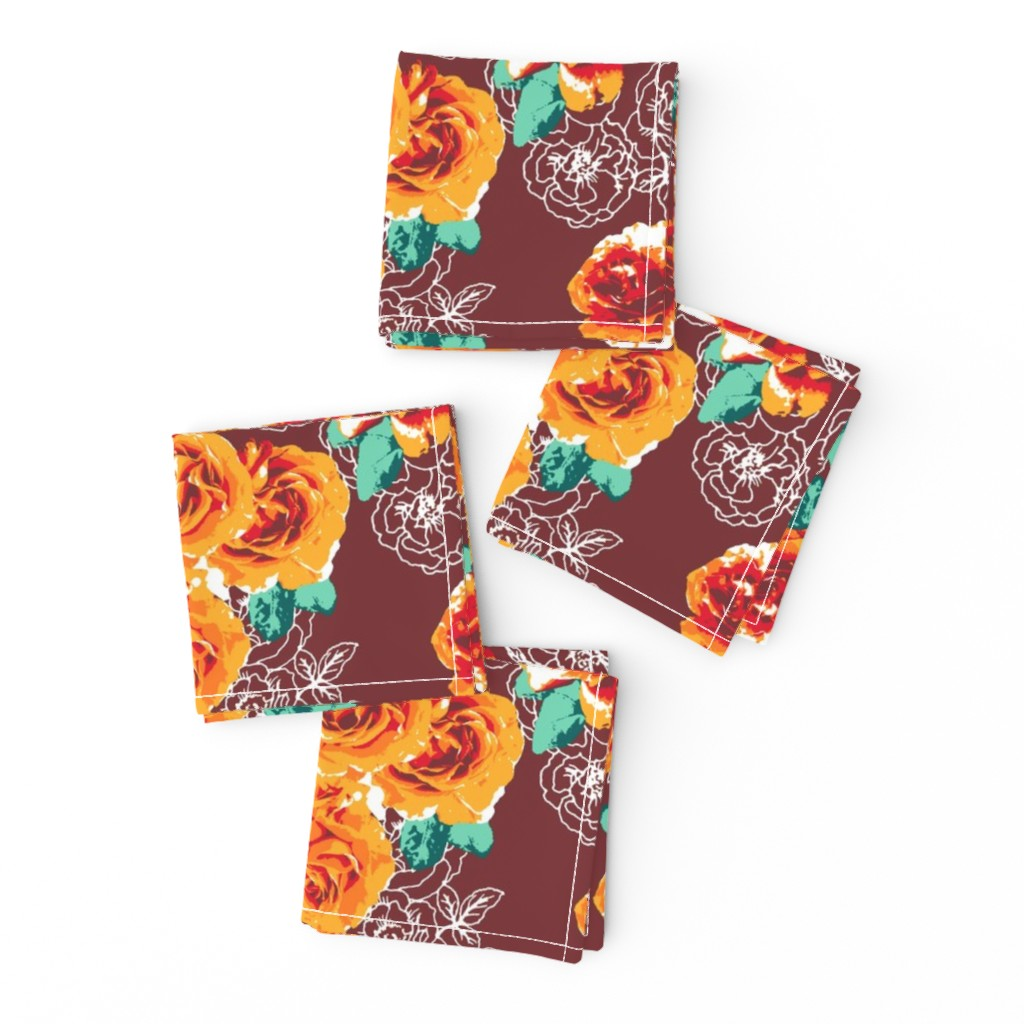 Frizzle Cocktail Napkins featuring Rosesonblue by susanna_nousiainen