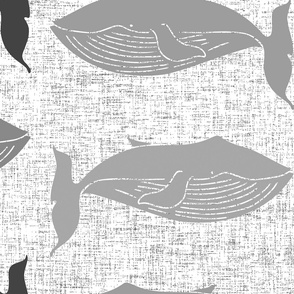 whale linen grey oversized
