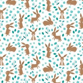 bunnies and flowers - small