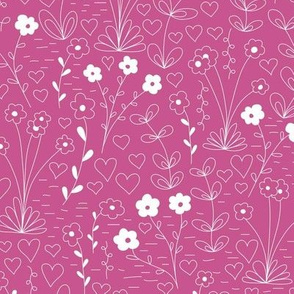Cutsie Floral - Mulberry