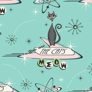The Cat's Meow - Tabbies on Aqua