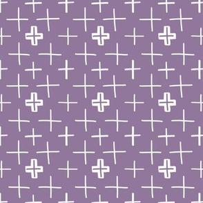 Swiss Crosses Purple