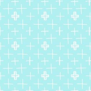 Swiss Crosses Ice Blue
